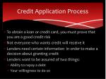 credit application process1