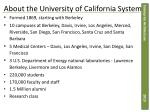 about the university of california system