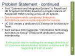 problem statement continued