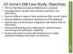 uc irvine s esb case study objectives