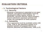 evaluation criteria1