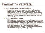 evaluation criteria5