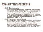 evaluation criteria8