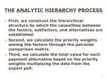the analytic hierarchy process