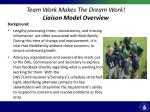 team work makes the dream work liaison model overview