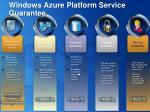 windows azure platform service guarantee