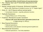 akerlof and shiller a brief history of macroeconomics