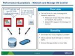 performance guarantees network and storage i o control