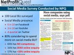 social media survey conducted by npq