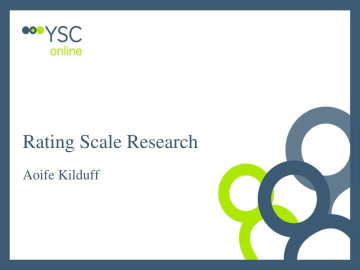 rating scale research n.