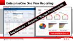 enterpriseone one view reporting