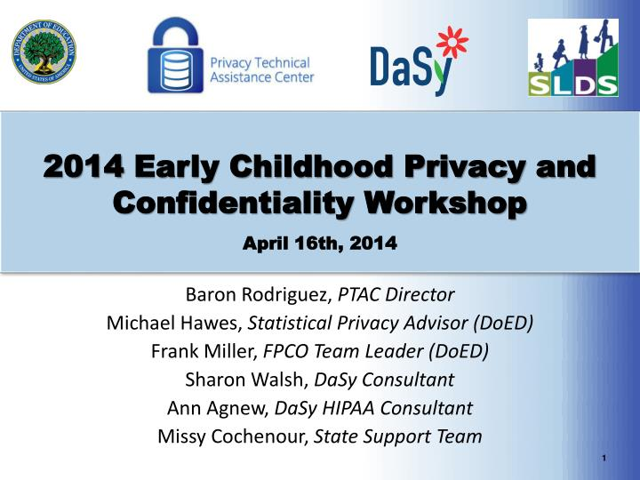 2014 early childhood privacy and confidentiality workshop april 16th 2014 n.