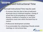 accrued instructional time