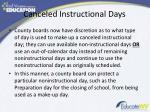 canceled instructional days