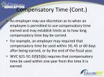 compensatory time cont1