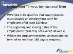 employment term vs instructional term