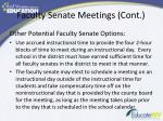 faculty senate meetings cont