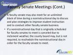 faculty senate meetings cont1