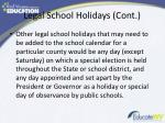 legal school holidays cont1