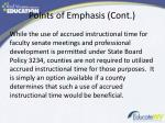 points of emphasis cont1