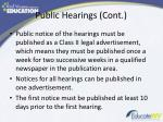 public hearings cont