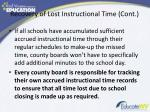 recovery of lost instructional time cont