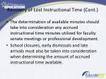 recovery of lost instructional time cont1