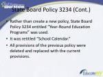 state board policy 3234 cont