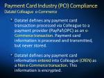 payment card industry pci compliance datatel colleague e commerce