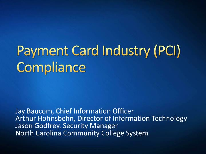 payment card industry pci compliance n.