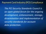 payment card industry pci compliance1