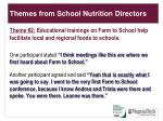 themes from school nutrition directors1