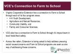 vce s connection to farm to school