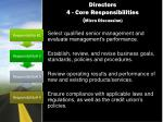 directors 4 core responsibilities micro discussion