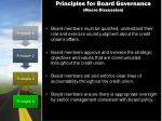 principles for board governance macro discussion