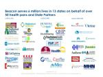beacon serves 6 million lives in 13 states on behalf of over 50 health pans and state partners