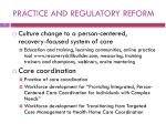 practice and regulatory reform