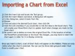 importing a chart from excel