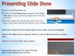 presenting slide show