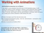 working with animations