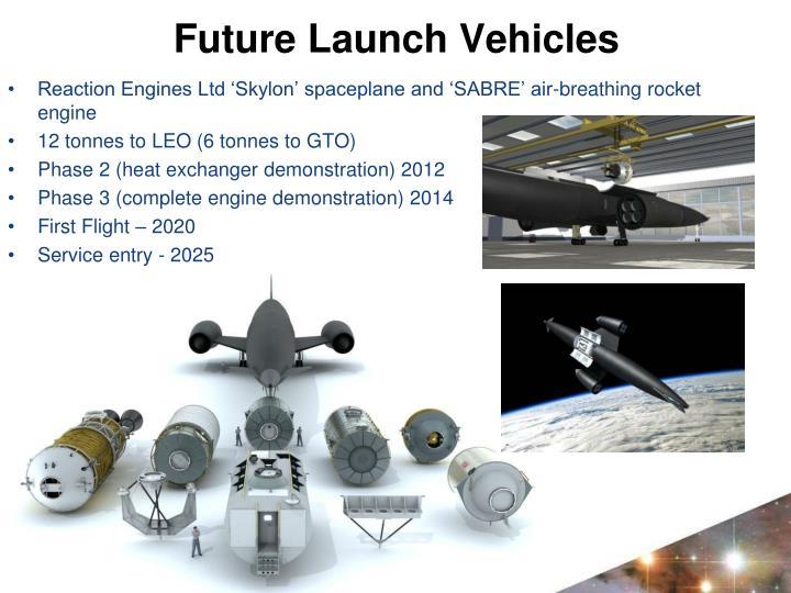 Reaction Engines Ltd 'Skylon' spaceplane and 'SABRE' air-breathing rocket engine