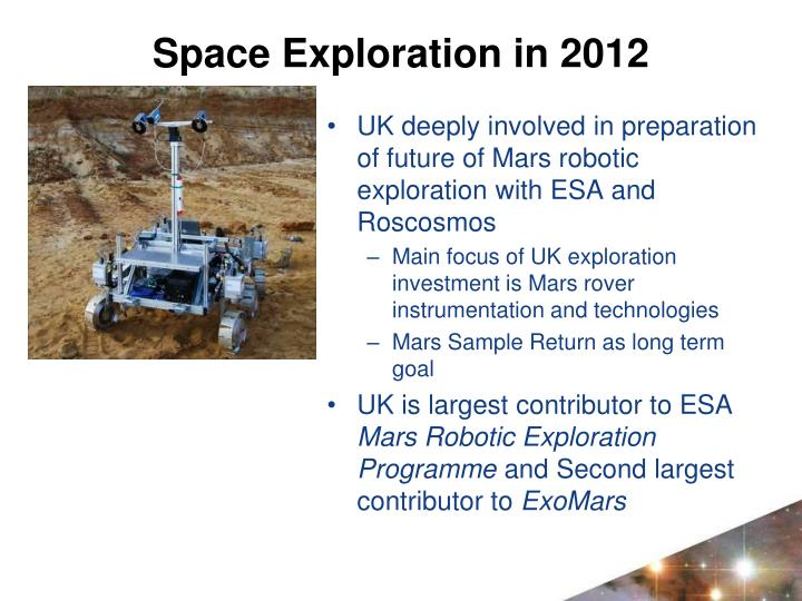 UK deeply involved in preparation of future of Mars robotic exploration with ESA and Roscosmos
