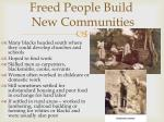 freed people build new communities1