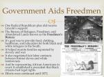 government aids freedmen