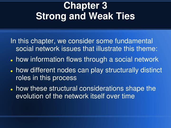 chapter 3 strong and weak ties n.