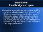 definitions local bridge and span