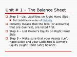 unit 1 the balance sheet6