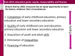 post 2015 education goals equity measurability and finance