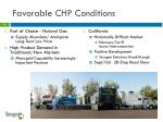 favorable chp conditions