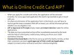 what is online credit card aip